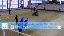 Premier tour, tir rapide en double, Romans contre Mâcon, Club Elite 2 J10, Sport Boules, saison 2014 / 2015