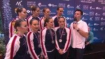 OPEN MAKE UP FOR EVER 2015 - EQUIPE LIBRE - Réactions de l'équipe de  France médaille argent