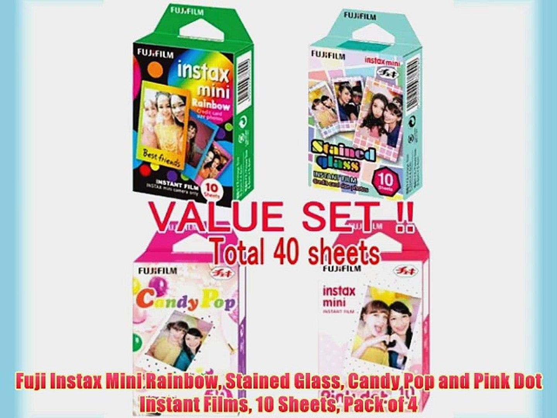 Fujifilm Instax Mini Instant Rainbow Film 2 Value Set 10 Sheets