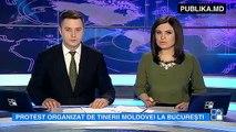 """PROTEST la Bucureşti """"Fără pașaport în Basarabia"""". Protestarii au cerut ca locuitorii de pe cele două maluri ale Prutului să poată trece frontiera moldo-română doar cu buletinul de identitate."""