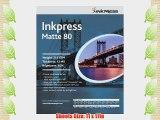 Inkpress PP801117100 Commercial Duo Matte Inkjet Paper 80 New Stock 11in. X 17in. 100 Sheets