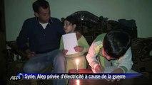 Syrie: Alep privée de lumière à cause de la guerre