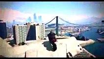 Cascade incroyable en moto sur GTA 5. (GTA 5 Online Stunts)