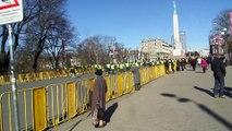 концовка уход полицейских 16 марта в Риге 2015 год