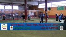 Troisième tour, tir rapide en double, Tarare contre Romans, Sport Boules, Demi-finale retour N2F, Saison 2014 /2015