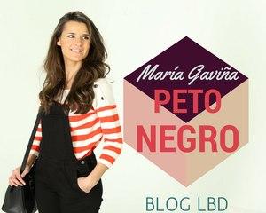 Cómo combinar un peto negro | Blog LBD by María Gaviña