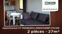 A vendre - ST FRANÇOIS LONGCHAMP (73130) - 2 pièces - 27m²