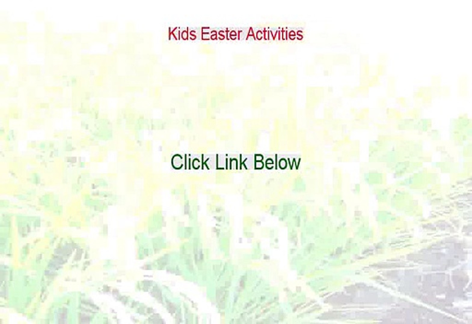 Kids Easter Activities Free Review - My Review (2015)