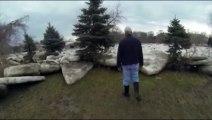 Etats-Unis : Des blocs de glace déforment le paysage de l'Ohio