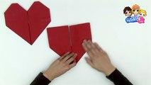 Pliage de serviette en papier en forme de coeur