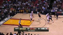 Dwyane Wade Slam Dunk - Cavaliers vs Heat - March 16, 2015 - NBA Season 2014-15