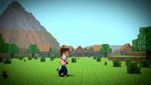 Minecraft JetPack Fail - (Minecraft Animation)
