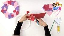 BRICOLAGE SAINT VALENTIN - Fabriquer une couronne de coeurs pour la St Valentin