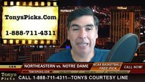 Notre Dame Fighting Irish vs. Northeastern Huskies Free Pick Prediction NCAA Tournament College Basketball Odds Preview 3-19-2015