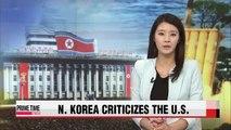 N. Korea accuses U.S. of worsening situation on peninsula