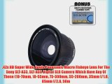 .42x HD Super Wide Angle Panoramic Macro Fisheye Lens For The Sony SLT-A33 SLT-A55 Digital