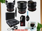 Rokinon Ultra-Wide Angle Cine Lens Kit - 24mm   14mm   8mm for Nikon   System Case   Care Kit