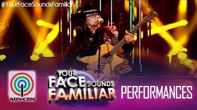 "Your Face Sounds Familiar: Tutti Caringal as Freddie Aguilar - ""Anak"""