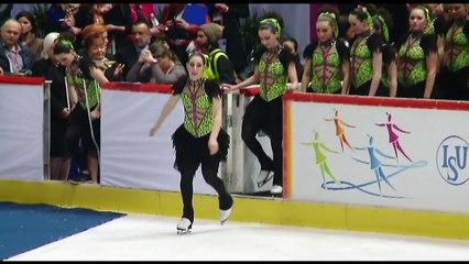 ISU World Junior Synchronized Skating Championships Day 2 Victory Ceremony