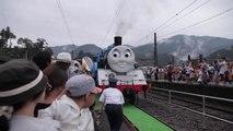 Japanese Children Love the Life-Size Thomas the Tank Engine