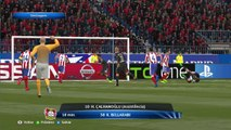 Highlights and goals Simulated game in PES 2015 - Round of 17 March