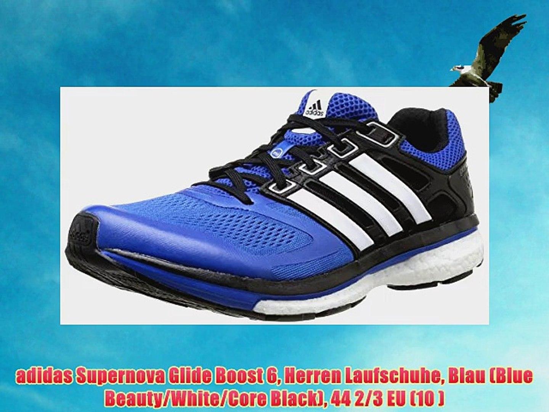 adidas Supernova Glide Boost 6 Herren Laufschuhe Blau (Blue BeautyWhiteCore Black) 44 23
