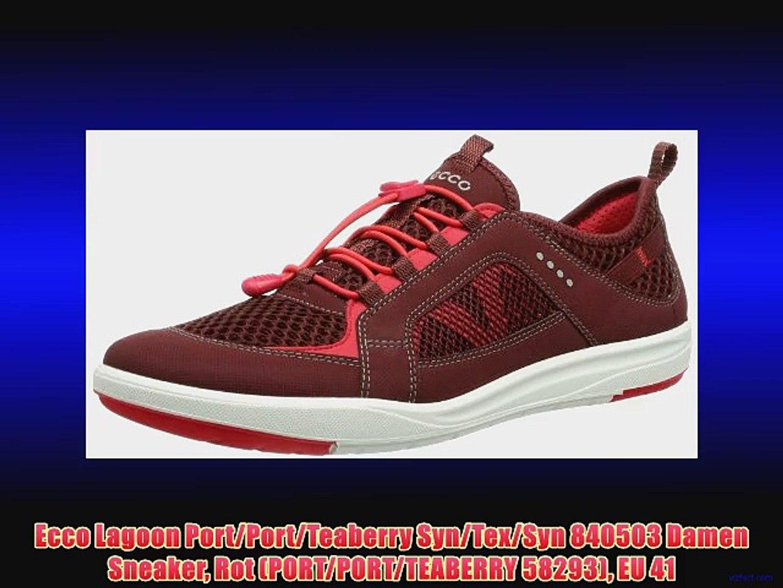 pretty nice 9ac59 2359d Ecco Lagoon Port/Port/Teaberry Syn/Tex/Syn 840503 Damen Sneaker Rot  (PORT/PORT/TEABERRY 58293)