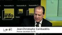 """Cambadélis dénonce une """"impunité pour le Front national"""""""