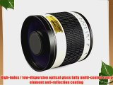 Opteka 500mm f/6.3 HD Telephoto Mirror Lens for Pentax 645D K-S1 K-500 K-50 K-30 K5 IIs K-7
