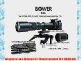 Bower 500mm/1000mm Telephoto Lens for Nikon D7000 D5200 D5000 D5100 D90 D80 D70 D60 D40 D40X