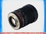 Rokinon 24mm F/1.4 Aspherical Wide Angle Lens for Sony RK24M-S