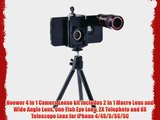 Neewer 4 in 1 Camera Lense kit Includes 2 in 1 Macro Lens and Wide Angle Lens One Fish Eye