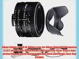 Nikon 50mm f/1.8D AF Nikkor Lens for Nikon Digital SLR Cameras (2137) with 52mm Multicoated