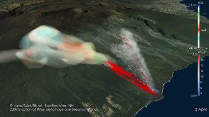 Simulation d'une éruption volcanique