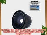 .42x HD Super Wide Angle Panoramic Macro Fisheye Lens For The Sony HDR-CX110 CX150 CX300 CX350V