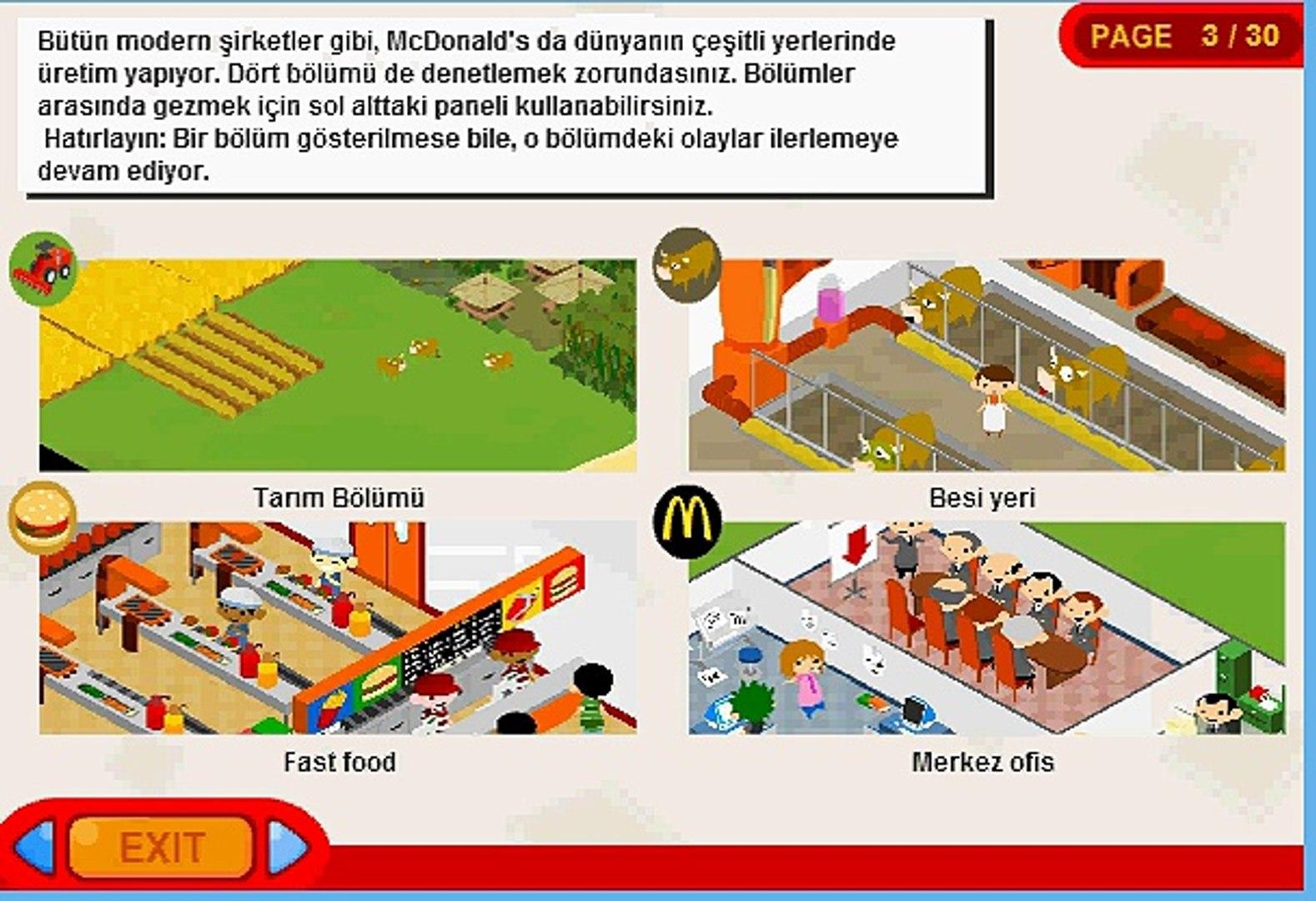 McDonalds Yönet Oyunu Nasıl Oynanır Oyun Çözümü - Akrep Oyun