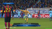 Barcelona vs Manchester City - Highlights and goals - PES 15 - Round of 18 March