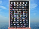 Large 144 Shot Glass Display Case Holder Cabinet Shadow Box Hinged Door Solid Wood Black Finish