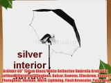 Ardinbir 60 150cm Black/White Reflective Umbrella Brolly Box Softbox Diffuser for Alienbees