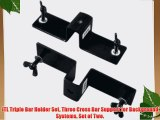 JTL Triple Bar Holder Set Three Cross Bar Support for Background Systems Set of Two.