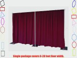 Pipe and Drape Backdrop 8ft x 20ft (Burgundy)