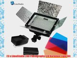 LimoStudio Photo Studio 200 LED Barndoor Photography Video Camera Lighting Kit 4Color Filters