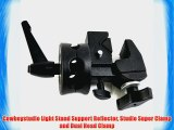Cowboystudio Light Stand Support Reflector Studio Super Clamp and Dual Head Clamp