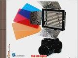 LimoStudio 160 LED Photography Light with Barndoor for Digital Camera or Digital Video Camcorder