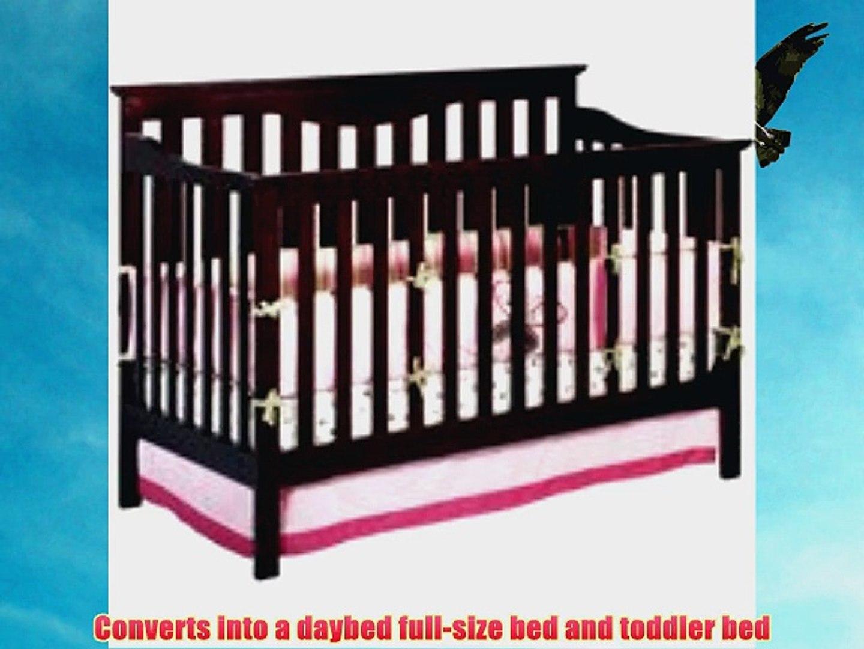 Delta Children's Products Harlow 4-in-1 Fixed Side Convertible Crib Espresso