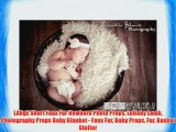 LARgE Short Faux Fur Newborn Photo Props Lullaby Lamb Photography Props Baby Blanket - Faux