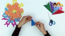 How to make paper snowflakes - Kids Craft