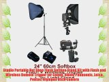 Studio Portable Hot Shoe Flash Softbox Stand Kit with Flash and Wireless Remote Trigger for