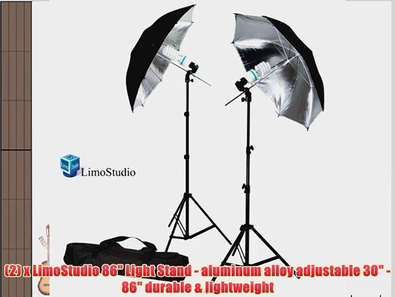 a18ea9bfd21f LimoStudio 6500K Day Light 400 Watt Photography 33 Silver Reflector  Umbrella Continuous Photo