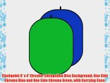 Flashpoint 6' x 4' Circular Collapsible Disc Background One Side Chroma Blue and One Side Chroma